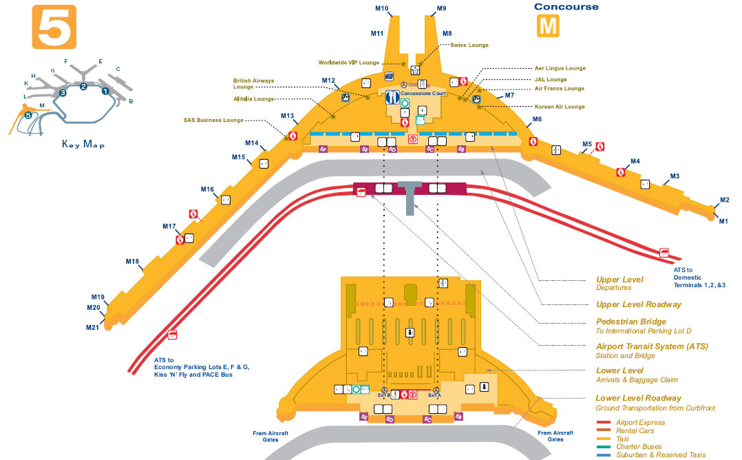 Chicago terminal map