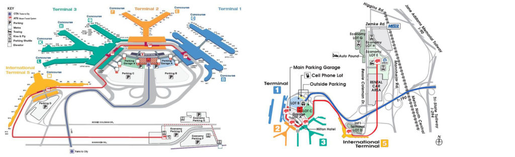 map of o'hare terminals